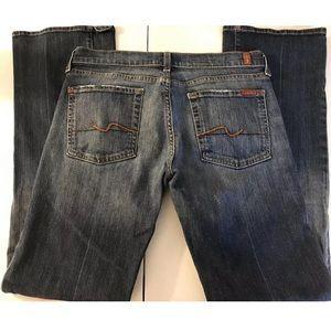 7FAM Bootcut Denim Jeans Dark Wash